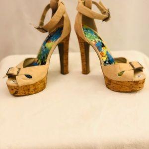 🔴Bamboo platform heels Sz 7